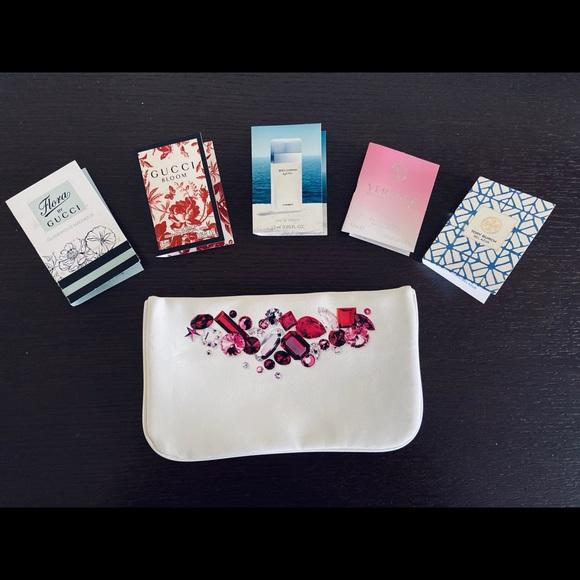 Sephora Official Gemstone Makeup Bag w Samples New